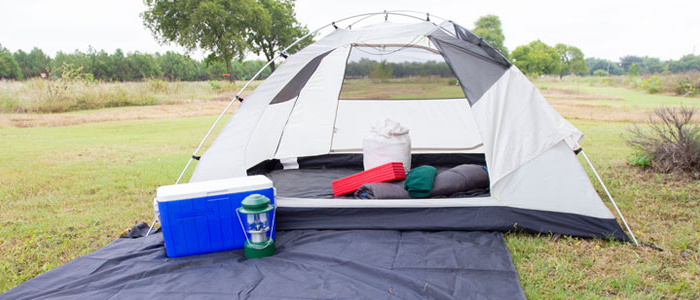 Photo of a 4 person camping package